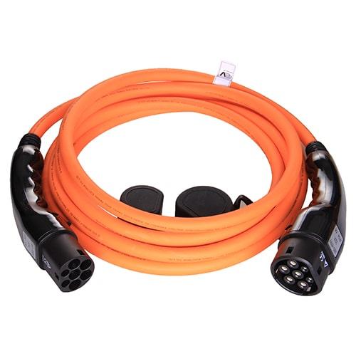 1-EV Type2 -> Type2 orange (3x32A) Καλώδιο EV